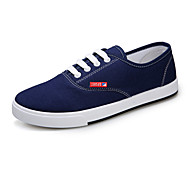 Men's Shoes Canvas Outdoor / Casual Fashion Sneakers Outdoor / Casual Flat Heel Lace-up Black / Blue / Green / Red / White