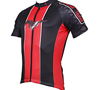 PaladinSport Men's Short Sleeve Cycling Jersey New Style DX547 Wild Horse 100% Polyester