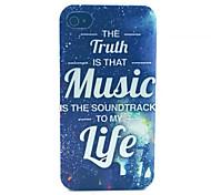 glücklich musik muster pc transparent gefrostet Schutzhülle für iPhone 4 / 4s