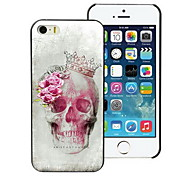 Skull and Rose Design Hard Case for iPhone 4/4S