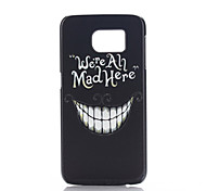 For Samsung Galaxy Case Pattern Case Back Cover Case Black & White PC Samsung S6