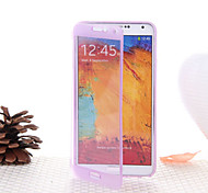 Transparent Flip Free Turn Touch TPU Phone Case for Samsung Galaxy Note 3(Assorted Colors)