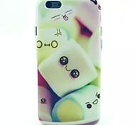 matériau TPU motif de bonbons de coton doux cas de téléphone pour iphone 5c