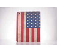 USA-Staatsflagge-PU-Leder Ganzkörper TPU Fall mit Kartenhalter für ipad 2 / ipad 3 / ipad 4
