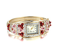 Sjewelry Lady Elegant Golden Diamond National Set Bangle Watch Cool Watches Unique Watches