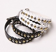Fashion Punk Style Rivet Decorate Multiple Use Necklace(Black/White)(1Pc)