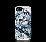 cobertura padrão chimpanzé para iphone 4 / iphone 4 s caso