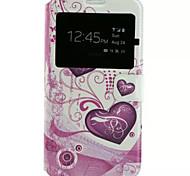 modèle de coeur cuir PU étui de téléphone portable pour Samsung Galaxy j7