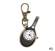antigüedad bolsillo raqueta de tenis creativo estilo vintage reloj del anillo dominante para los hombres regalos mujeres damas estudiante