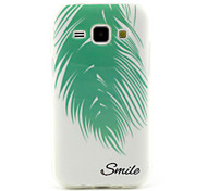 Smiling Feathers Pattern TPU Soft Case for Samsung Galaxy J1
