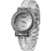 Women's Ladies Alloy Watchband Quartz Bracelet Watch