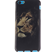 The Lion Face Design TPU Soft Cover for iPhone 5C