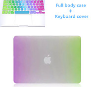 Newest Rainbow Slim Full Body Case and TPU Keyboard Cover for Macbook Air 11.6 inch