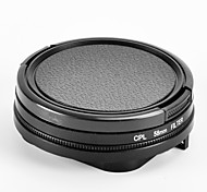 58mm cpl imperméables accessoires de cas kits pour GoPro Hero 4/3 +