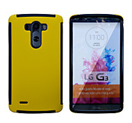 2 in1 Hybrid High Impact Hard Silicone Case for LG G3 (Assorted Color)
