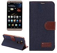 Luxury DenimPU Leather  Card Holder Wallet Flip Phone Holster Huawei Mate7(Assorted Color)