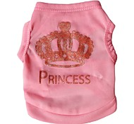 Lovely Big Crown Vest for Pets Dogs (Assorted Colours and Sizes)