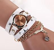 New design women star leather strap watches,set bracelet women dress watches,women  necklace wristwatches