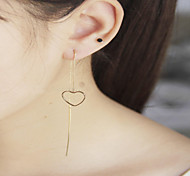 Summer New! Copper Casting Heart Shape Bars Punk Style Drop Earrings