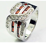 Size 10 High Quality Men Red Sapphire Rings 10KT White Gold Filled Ring