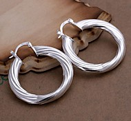 Hollow Twist Line 925 Silver Drop Earrings Wedding/Party/Daily/Casual 2pcs