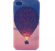 Heißluftballonmuster transparent gefrostet PC Schutzhülle für iPhone 4 / 4s