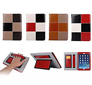 Mixed Color Pattern Genuine Leather Folio Cases Smart Cover for iPad 2/iPad 3/iPad 4 (Assorted Colors)
