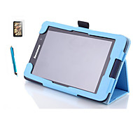 "Folding Folio Leather Case Stand Case Cover For Lenovo A7-50 A3500 7"" Tablet+ Free Screen Protective + Stylus Pen"