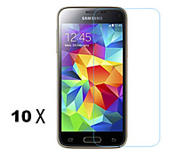 [10-Pack]Professional High Transparency LCD Crystal Clear Screen Protector with Cloth for Samsung Galaxy S5 Mini