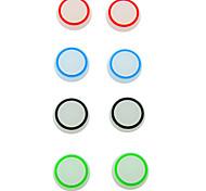 noctilucentes silicone aperto tampa de polegar vara joystick para playstation4 xbox ps4 ps3 ps2 um controlador 360 (2 peças)
