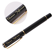 Personalized  Gift Pens Black Classic Metal Gold-plating Black Ink Gel Pen