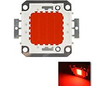 diy 30w cor vermelha chip de lâmpada de poupança de energia de alta potência levou módulo (dc 20-22v)