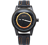 Brand Men's Fashion Leather Strap Quartz Watches High Quality 2015 Fashion Designer Watch Dial with Four Color Watches.