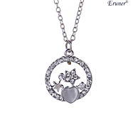 Euner® Hot Sale!Crystal and Alloy Star Romantic Style PendantNecklaces