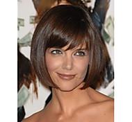 courte perruque de mode brun foncé droite mode femme