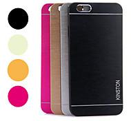 arco iris kinston® dos líneas rozaron caso duro del patrón de aleación de aluminio para el iphone 6 (colores surtidos)