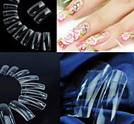 500 estándares coreano transparentes claras profesional media y extremidades falsas del arte del clavo de acrílico (50pcsx10 tamaños mezclados)