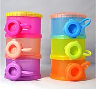3 Layers Compartment Baby Milk Powder Dispenser Container Storage Box  (Random Color)