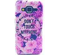 Pink Flowers Pattern PC Material Phone Case for Samsung GALAXY CORE Prime G360