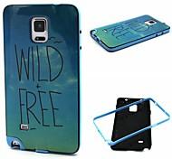 Fashion Design COCO FUN® Free Birds Pattern Soft TPU Back Case Cover for Samsung Galaxy Note 4