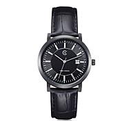 Men's Round Dial Leather Strap Quartz Wrist Watch(Assorted Colors)