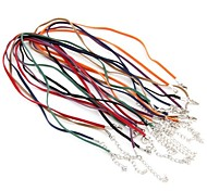70pcs Flat Velvet Cord Necklace Chain Pendant Clasp Hook