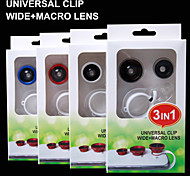 3 in 1 mobile phone lens/0.4x wide angle/180° fisheye/macro lens ,pad,etc
