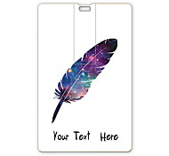 Personalized USB Flash Drive Feather Design 64GB Card USB Flash Drive