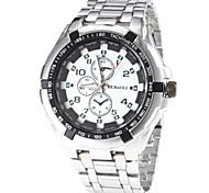 Men's Fashion Design Steel Band Quartz Wrist Watch