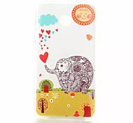 padrão elefante caso de telefone TPU para Huawei Y330