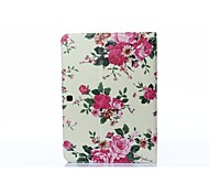 Beige Rose PU Leather Full Body ABS Case with Carder Holder for Samsung Galaxy T530 /Tab 4 10.1