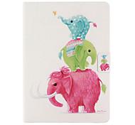 neue Blume PU Ledertasche mit Kartenslots für Apple iPad 2 6 Klima Fall Foliostandplatz-Schutz-Haut für ipad 2 Abdeckung Luft