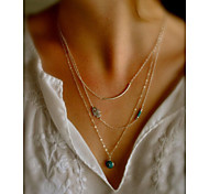 Women's Alloy Palm Pendant Chain Necklace
