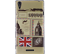 Vintage Postcard Designs TPU Soft Case for Sony Xperia T3